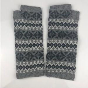Nordic Pattern Wool Blend Wrist Warmers